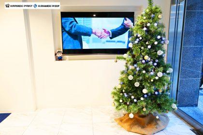 店舗ではクリスマスの装いに♪