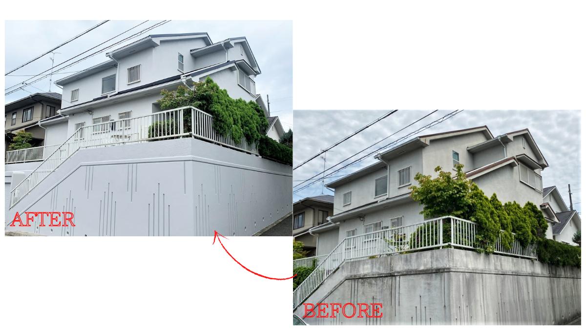 外壁塗装と屋根重葺き工事