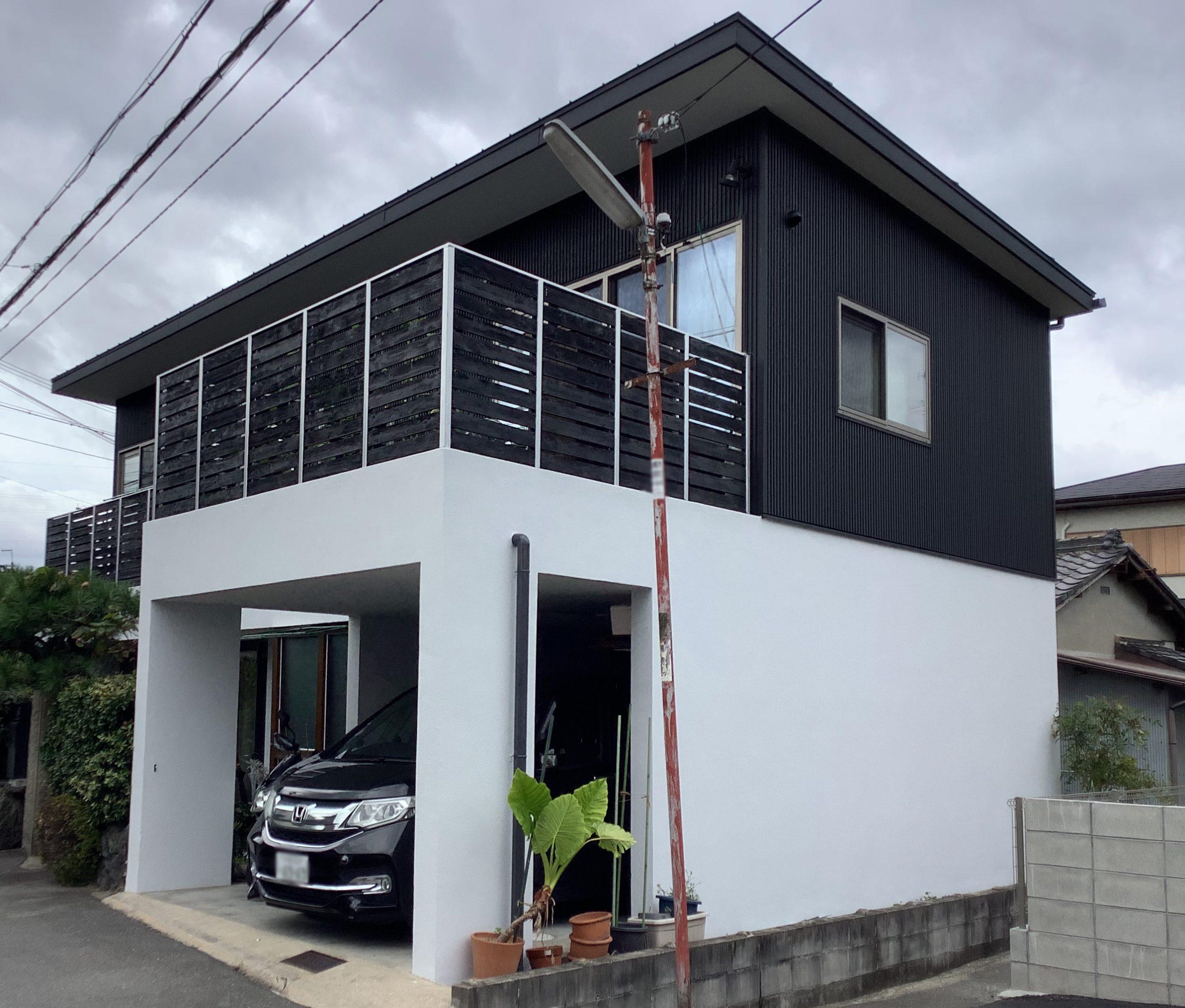 高槻市安満北の町 塗装工事(外壁、屋根、付帯物)