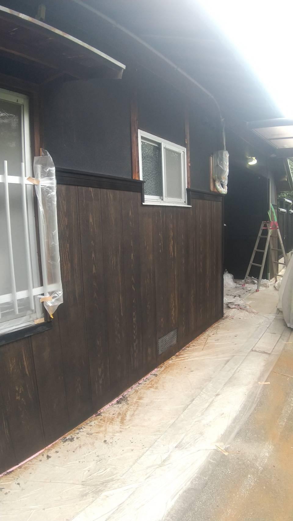 堺市南区 補修工事・外壁塗装工事(玄関廻り)